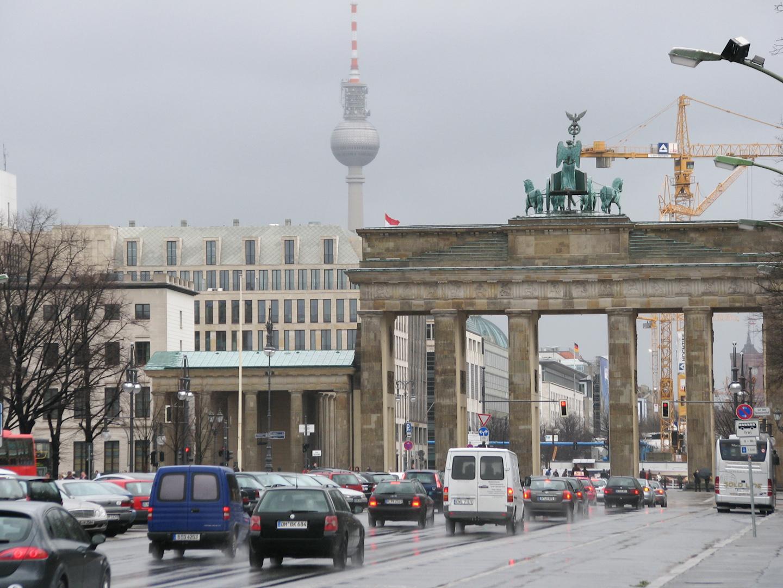 La Puerta de Brandenburgo es uno de los puntos más turísticos.