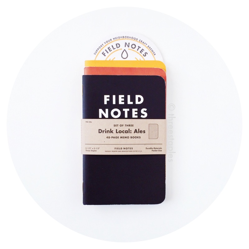 """Field Notes Colors: Drink Local """"Ales"""" (Fall 2013)"""