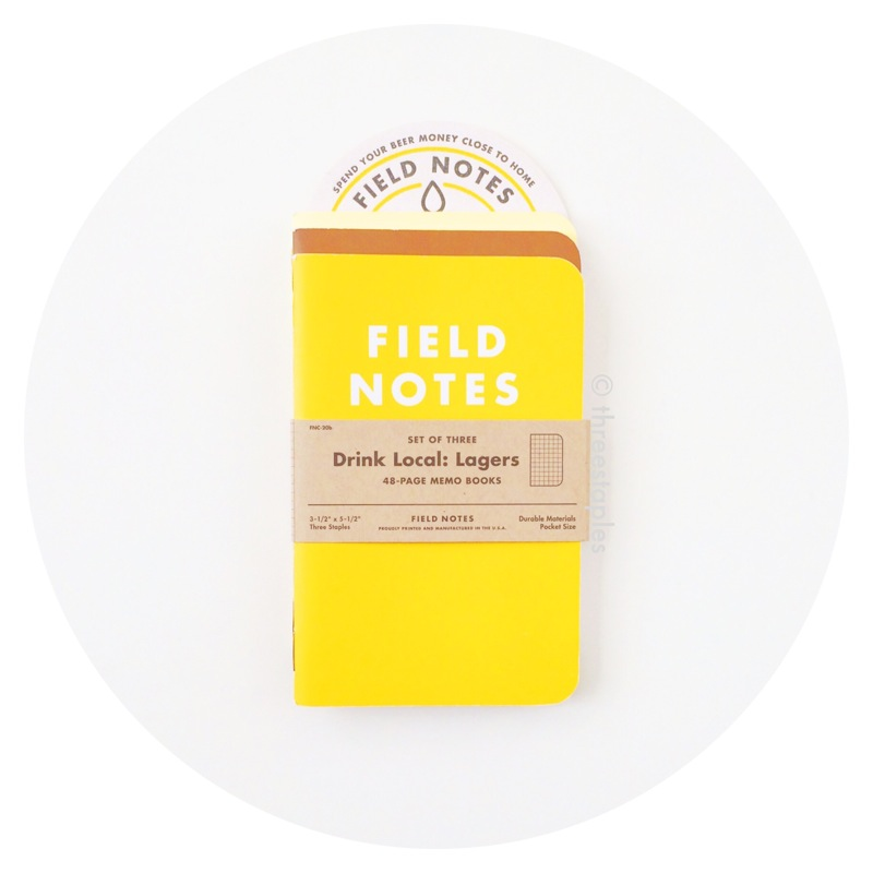 """Field Notes Colors: Drink Local """"Lagers"""" (Fall 2013)"""