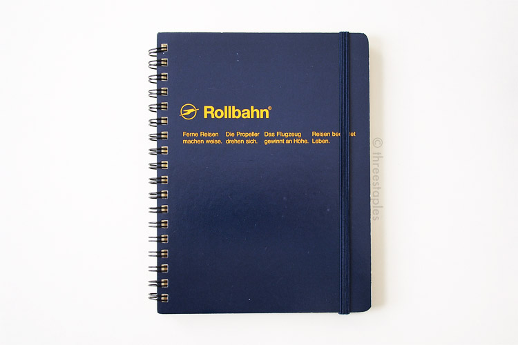 Rollbahn Memo with Pockets L in Dark Blue