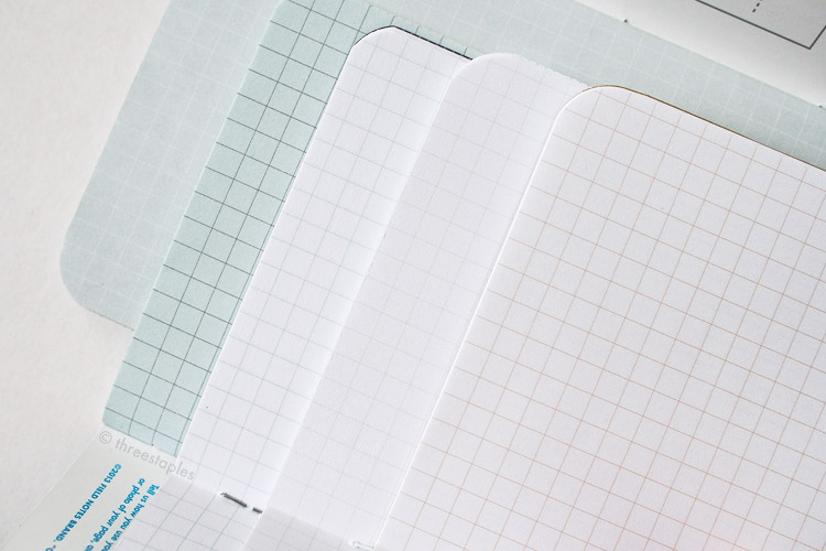 Quick graph grid comparison (from left): Northerly, Cold Horizon, Just Below Zero, Snowblind, and Original kraft.