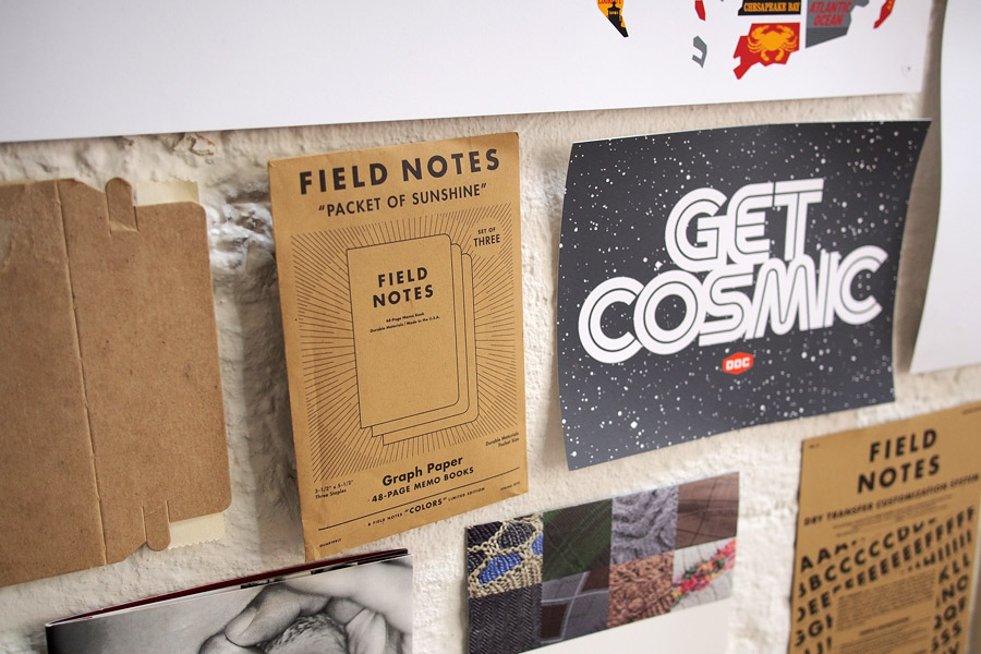 There were many Field Notes goodies on display. Some I've never seen in person, like this  Packet of Sunshine  envelope.