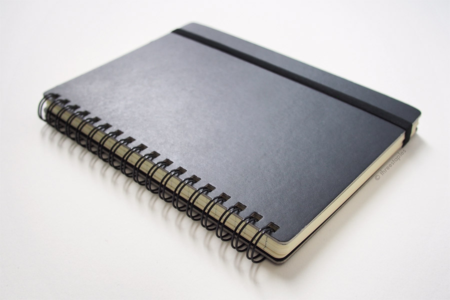 One feature this notebook has that I wish was in the perfectbound version: the subtle, linen-like texture on the covers that make the notebook look and feel more expensive than it is.
