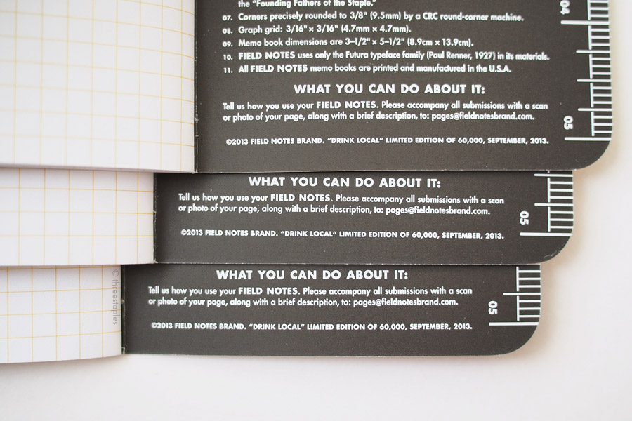 "Inside of every book is the same dark brown-black color found in ""Stout"". Not every pen works on this inside cover because of its color and texture but I was able to fill in the dates using a  white Posca  marker."