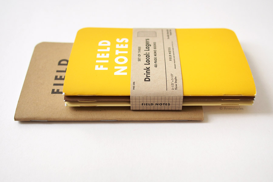 """Chipboard"" belly band is lighter than the kraft paper used in Original Field Notes."