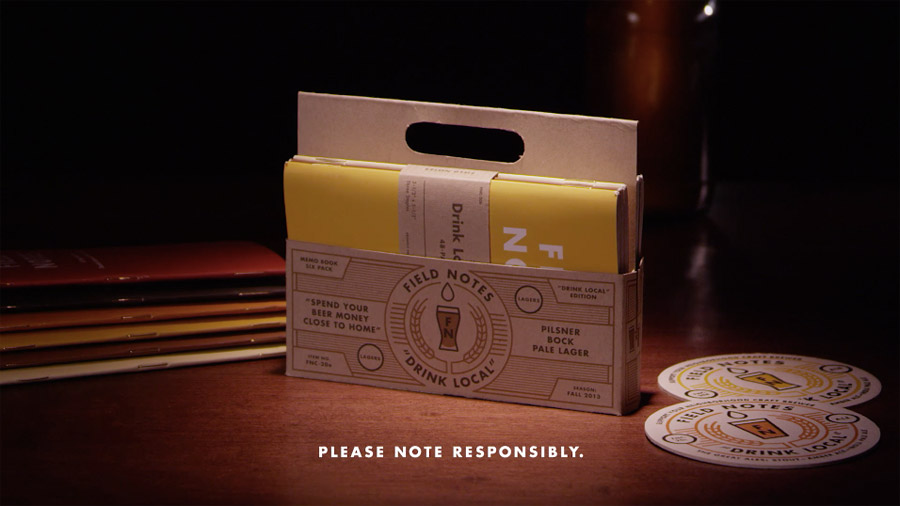 A screenshot from the official  Field Notes Drink Local video .