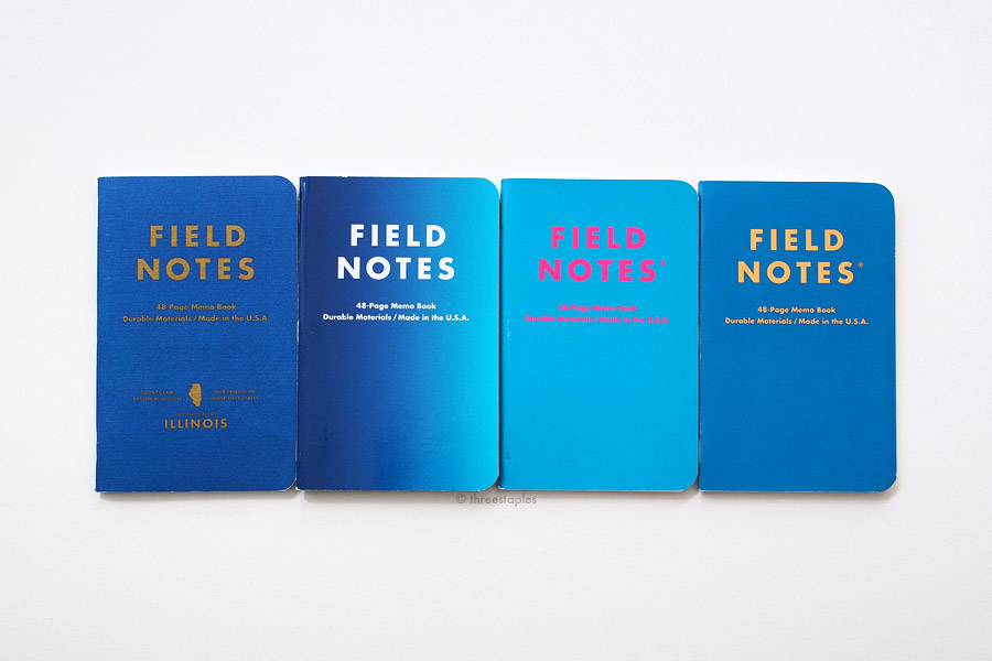 "Only one has a gradient cover. From left: County Fair, Cold Horizon, Unexposed, Starbucks ""Coffee Origins""."