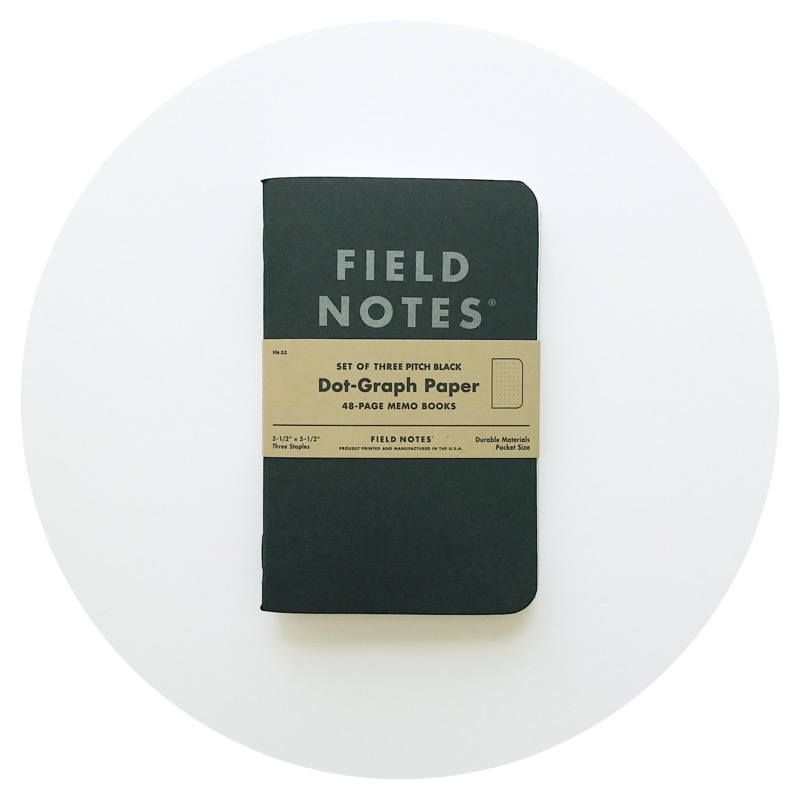 Field Notes: Pitch Black Memo Book (ver. 2) in Dot-Graph
