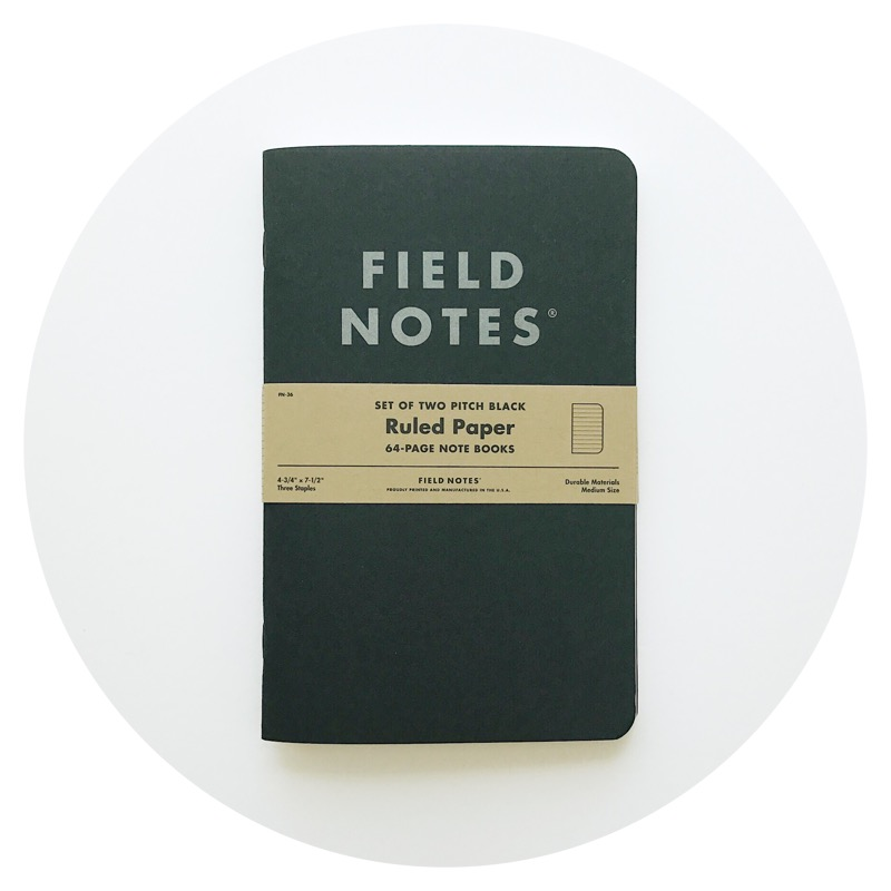 Field Notes: Pitch Black Note Book (ruled)