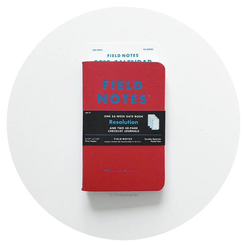 Field Notes Colors: Resolution (Winter 2017)