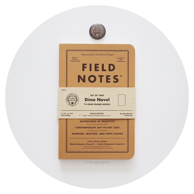 Field Notes Colors: Dime Novel (Fall 2017)