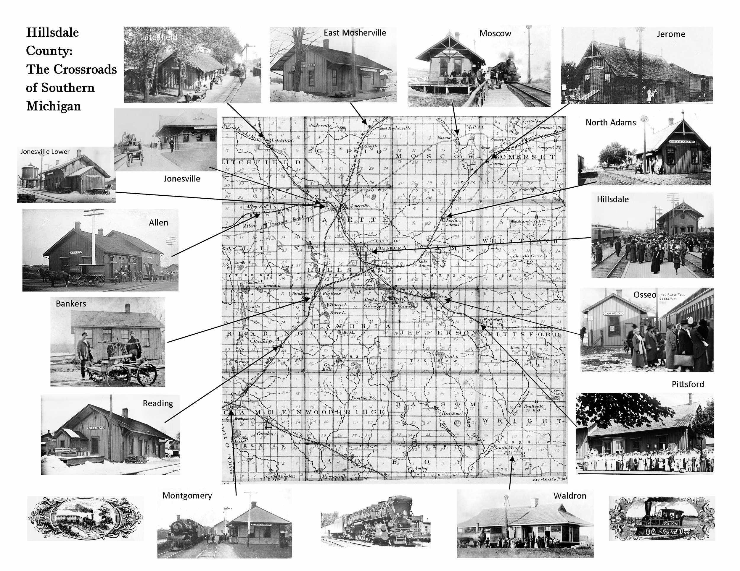 Railroad depots in hillsdale county
