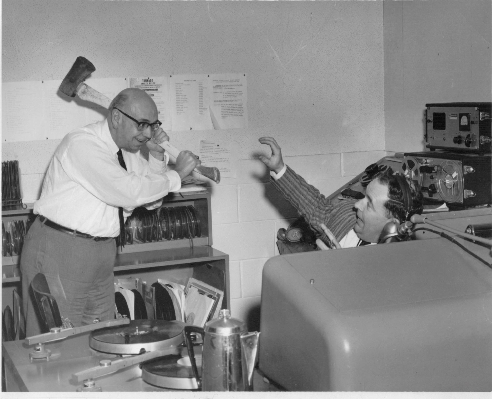 Pat patterson & Tony flynn had a sports talk show that sometimes got pretty heated!