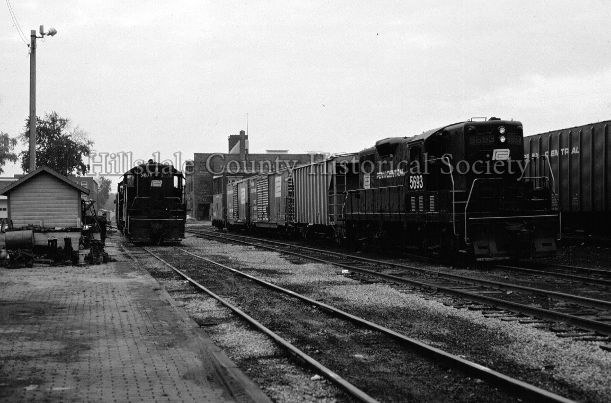 Penn Central Train in Hillsdale, MI railroad yards