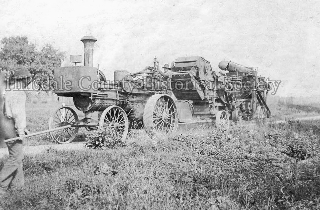 Will Brant's thrashing machine at the fair - 1911