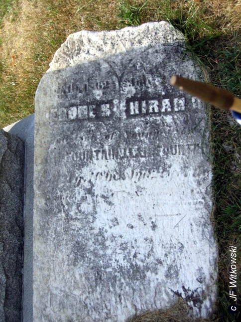 this stone is the only marker for Jerome and Hiram Fountain. Their remains are elsewhere.