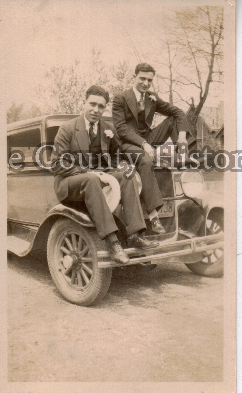 Peter Savarino with his cousin.