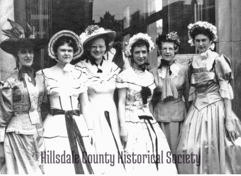 From left to right: Marguerite cascarelli, gloria triechman, maleta turner, alberta giauque, maxine balcom and Margaret Ladd Dunton