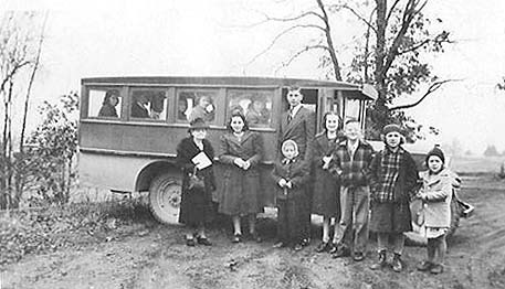 The Bankers Baptist Church bus in the early days.
