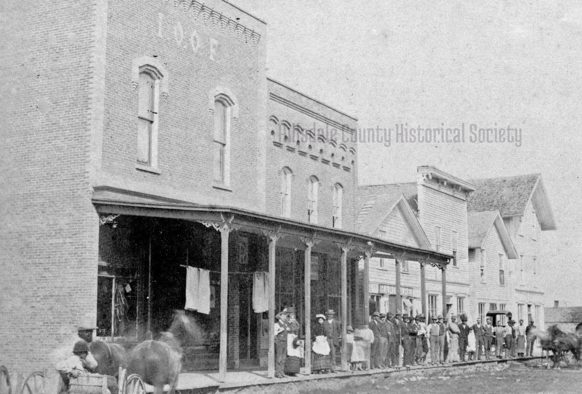 The west side of Main Street before the fire of 1895