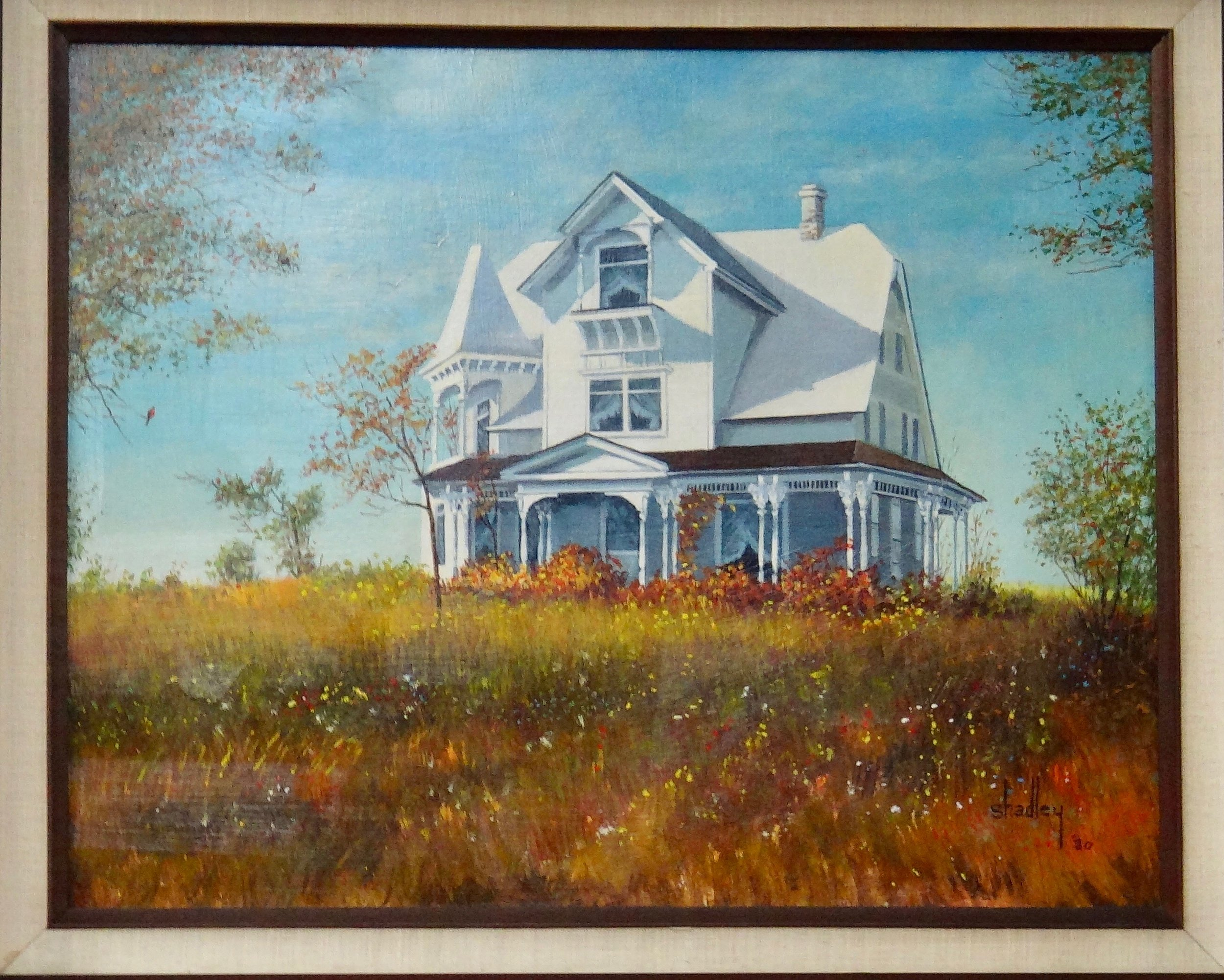 A painting done of the robards home in its full glory
