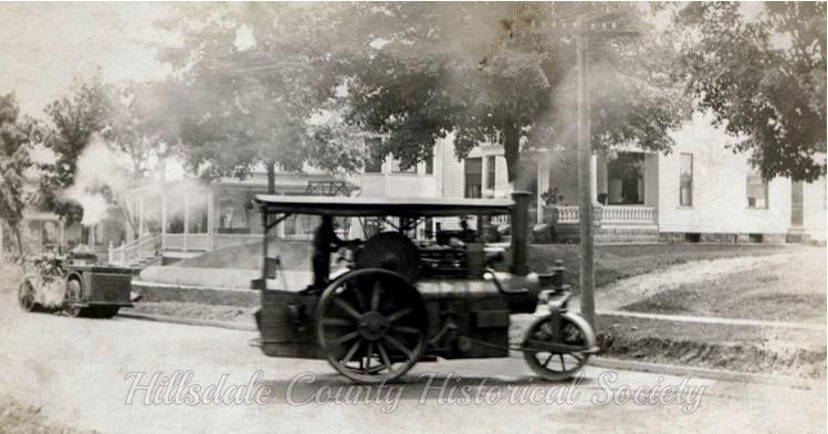 paving trucks on Broad Street, c. 1914.