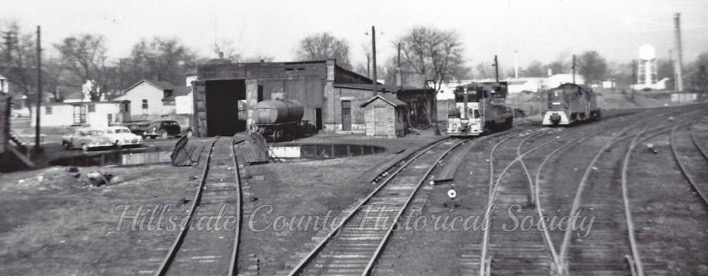 the roundhouse and turntable were dismantled in the 1950s.
