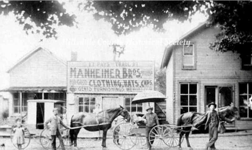 Manheimer Brothers before their move to the city of Hillsdale