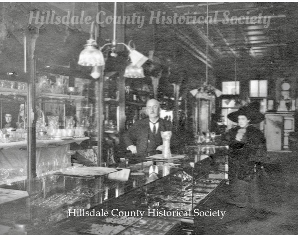 Until 2018, this Howell Street store has always house a jewelry business. Above is Albaugh and Son Jewelers and Opticians. Later it was Kiess Jewelers, then Losey Jewelers.