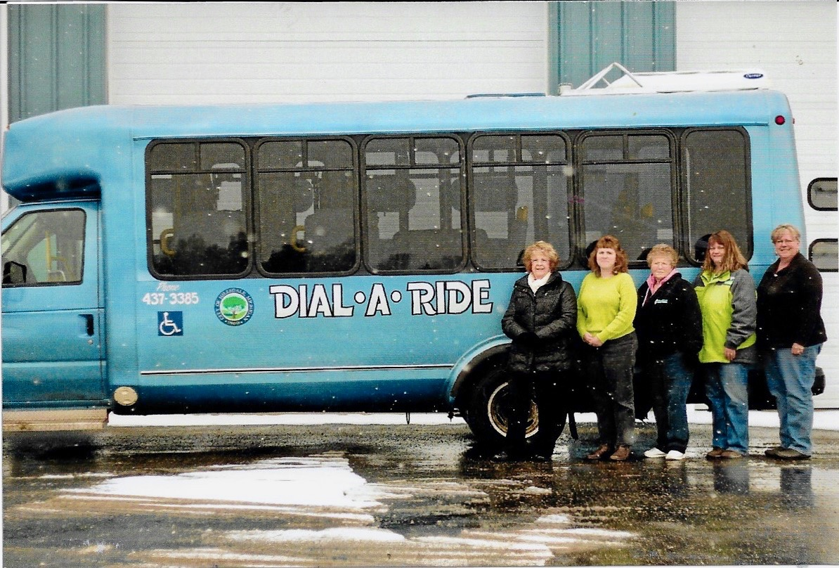 40th anniversary of Dial-a-ride: Judy Buzo, Sandy Young, Bert Tanner, Susan Kuhn, Cheryl Cox