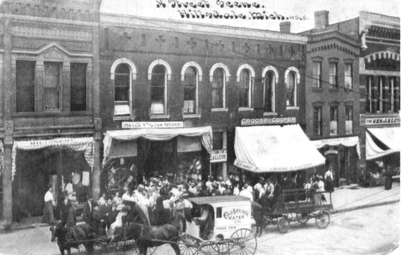howell street, with a deliver wagon of water from cold spring park