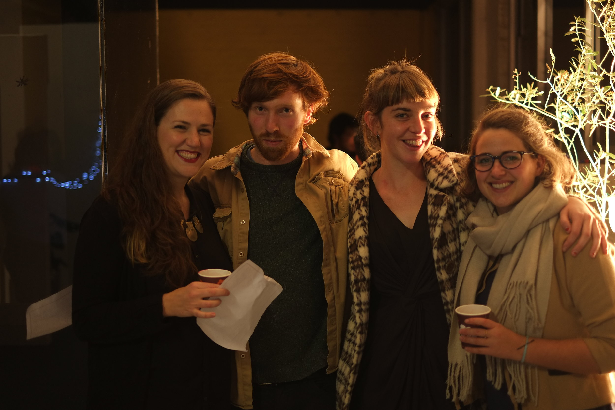 Me (3rd from left) with some friends at the  My People  opening 2014