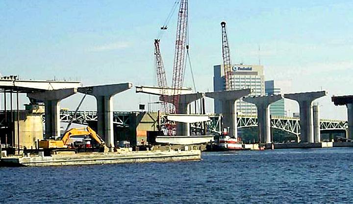 Fuller Warren Bridge Construction, Jacksonville FL