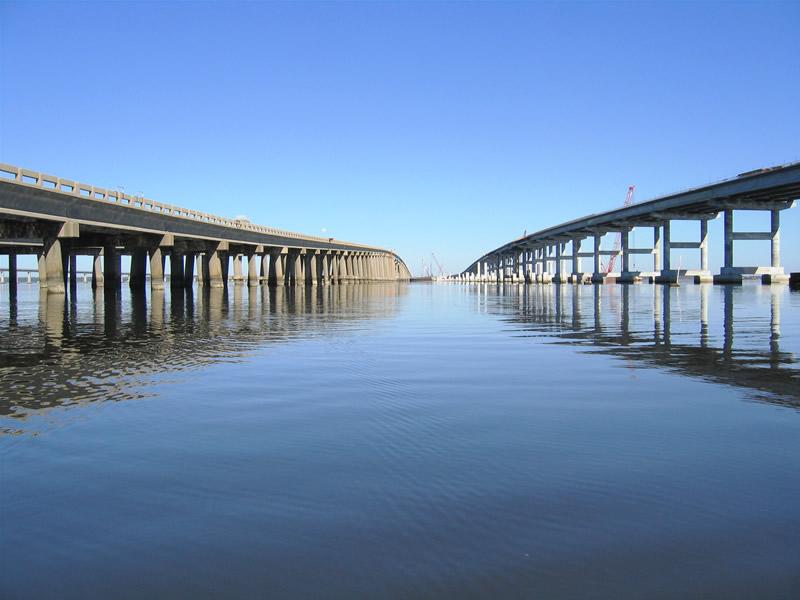 Escambia Bay Bridge Construction, Pensacola FL