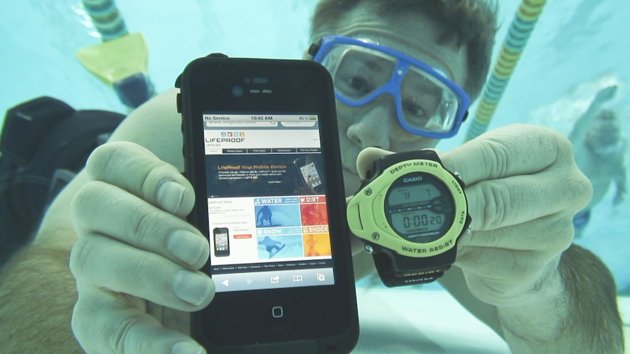 Shakespeare Media's client Lifeproof protects mobile phones under water. Photo: Lifeproof