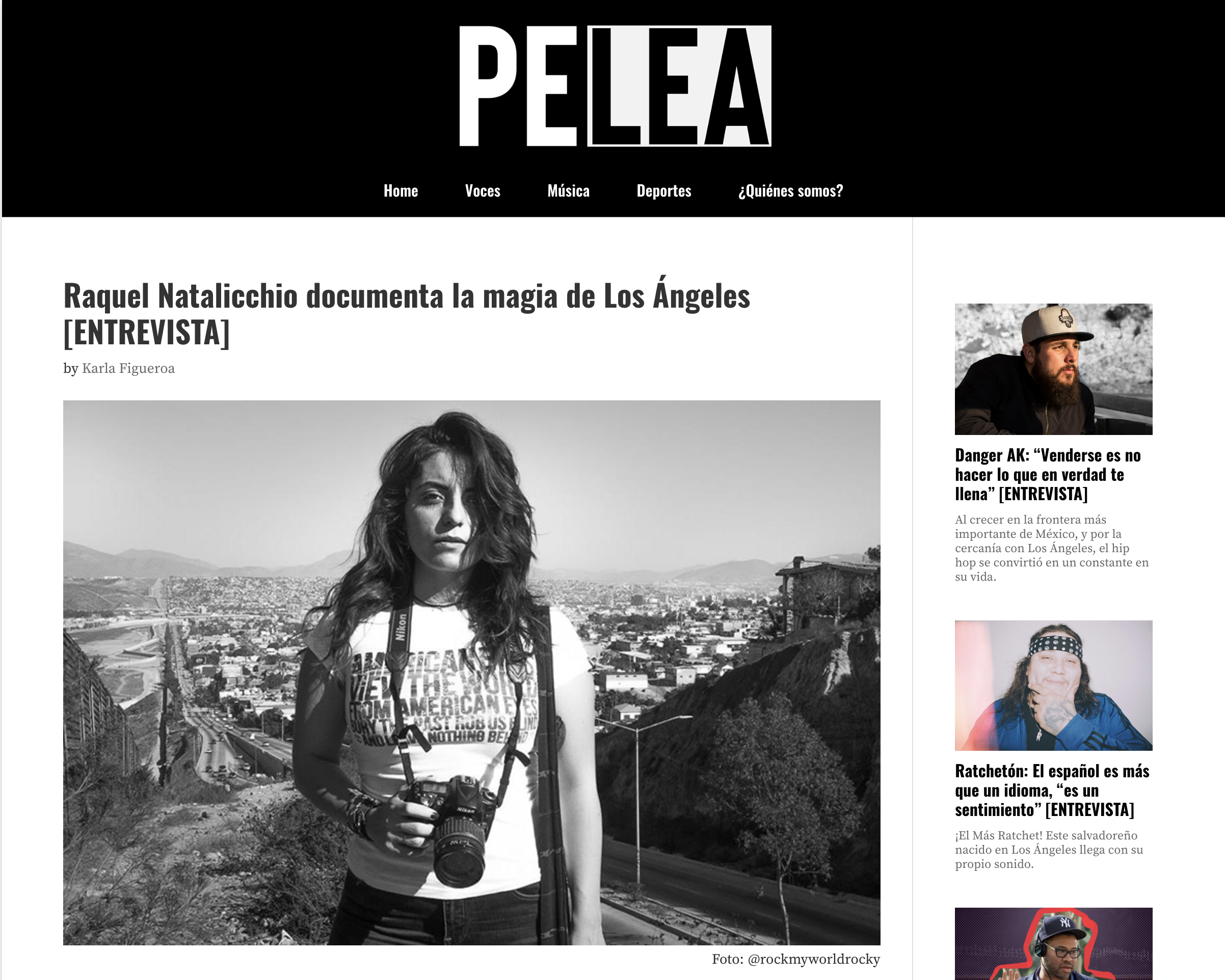 Raquel Natalicchio Featured in PELEA