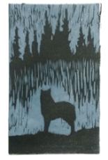 """Waiting"" / Relief print linocut 2 color  Price: $20  / 5"" x 8"" / 9"" x 13.5"""