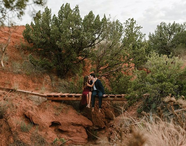 I've got a whole bunch of favorites from this session. We went on the same hike I've taken many of my other clients on in Palo Duro, but this was the first time they weren't in wedding clothes so we could stop at all of the other rad spots we normally skip over! I will forever be willing to make these hikes to find terrain that isn't the norm around the Texas Panhandle, and I love it when you guys are up for it too! We are officially into the season for engagement and portrait sessions so hit me up if you need some photos before the holidays! 🙌🏻