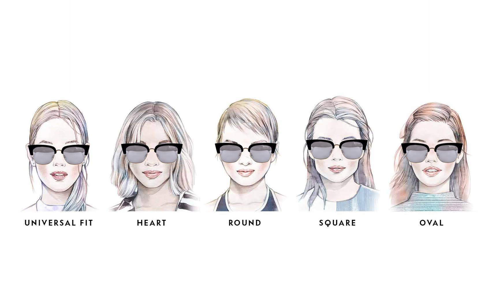 York 在各種臉型 ( 百搭臉, 心型臉, 圓臉, 方形臉, 鵝蛋臉 )