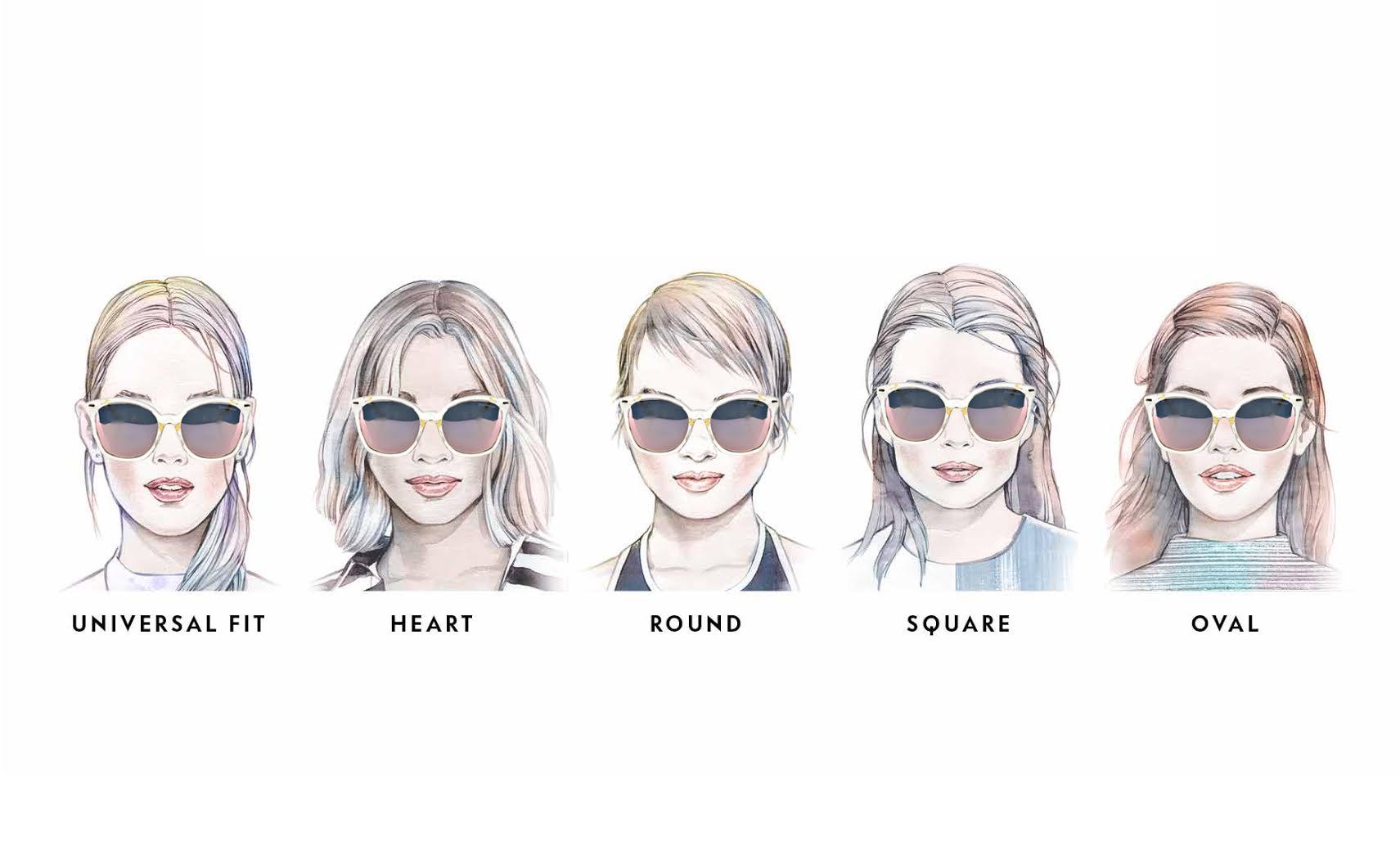TANGS 在各種臉型 ( 百搭臉, 心型臉, 圓臉, 方形臉, 鵝蛋臉 )