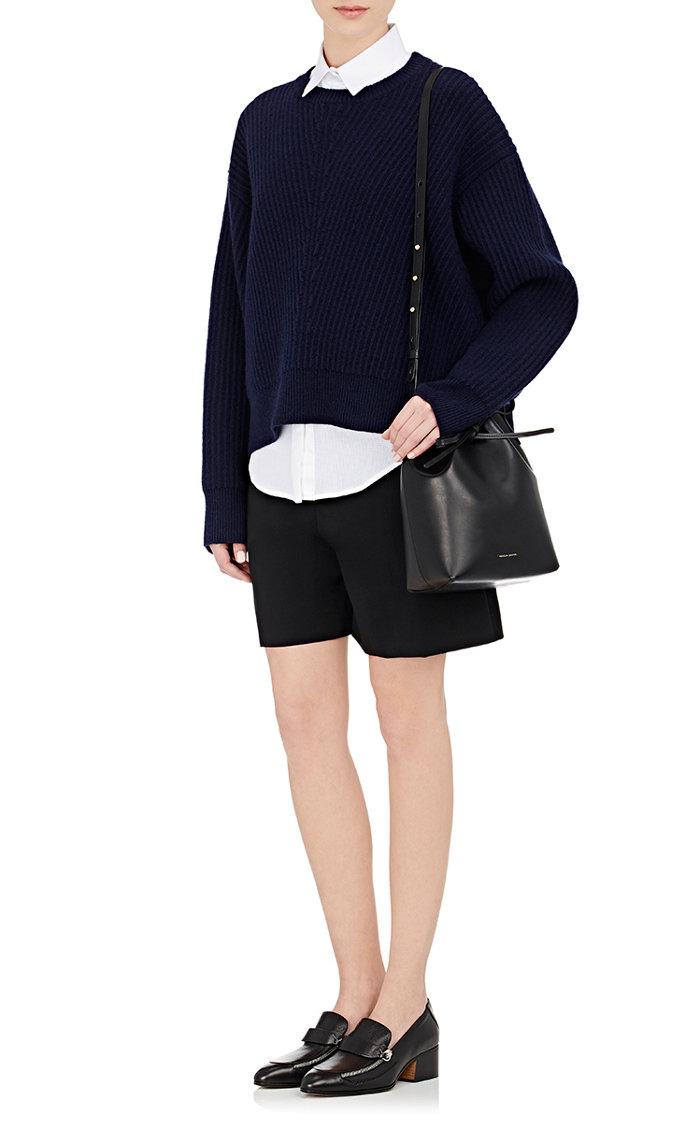MANSUR GAVRIEL  Mini Bucket Bag (黑色紅底)