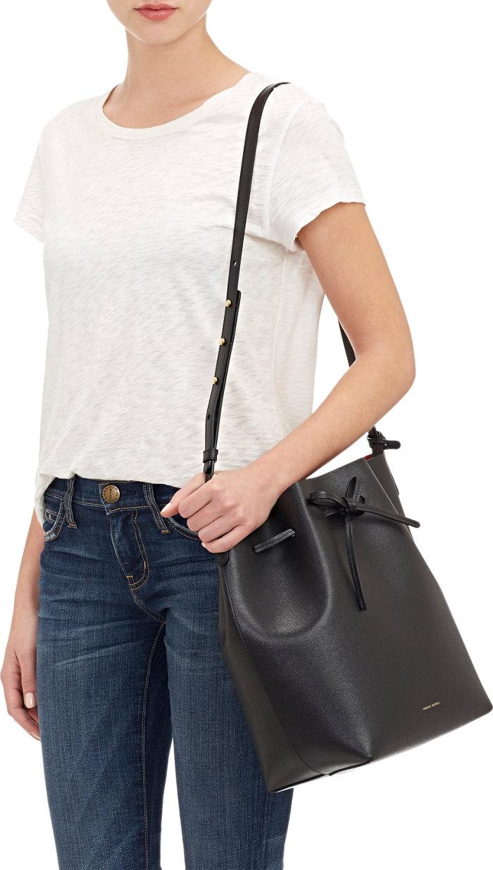 只有Barney's 才有的防刮 MANSUR GAVRIEL  Saffiano Large Bucket Bag