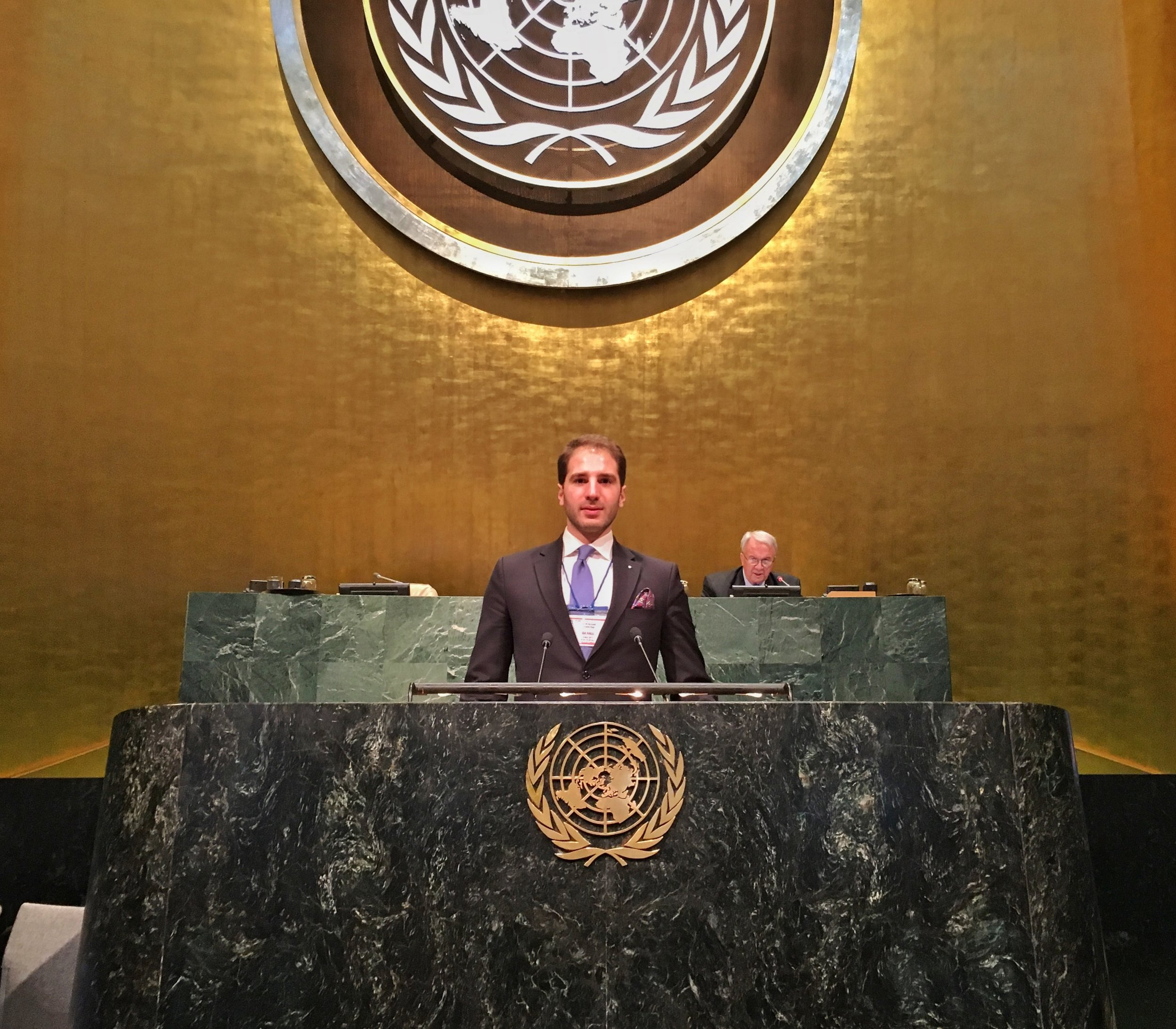 Paul Klimos at the United Nations