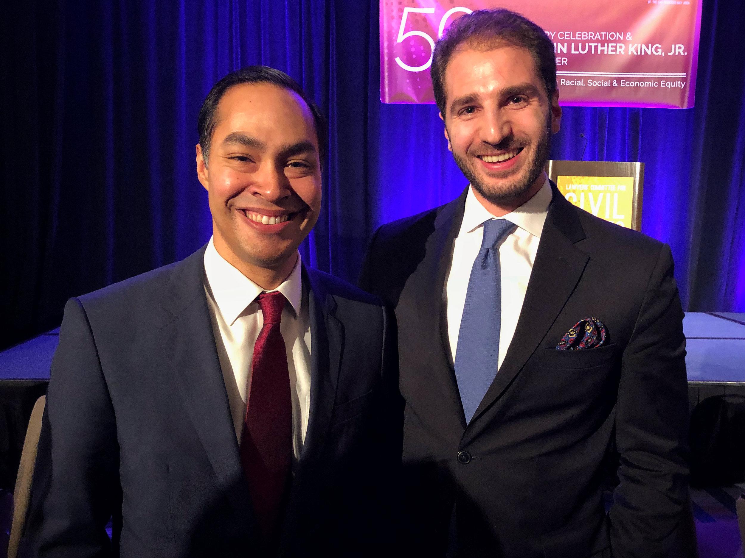 Paul Klimos & Julian Castro, US Secretary and Presidential Candidate