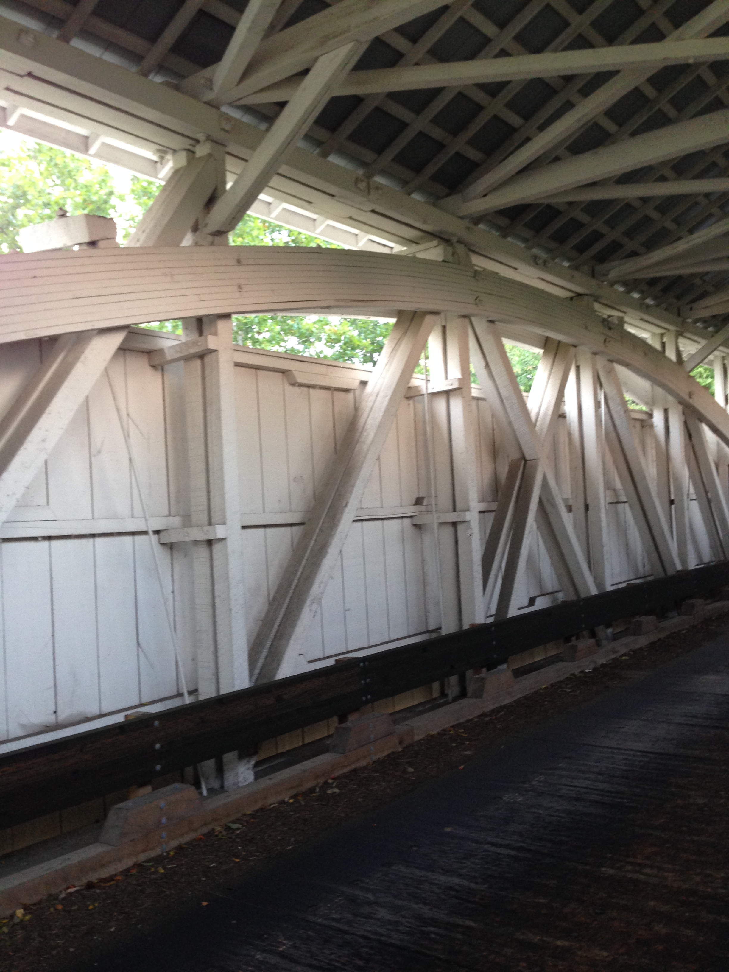 Arch Trusses on the Harshaville Bridge