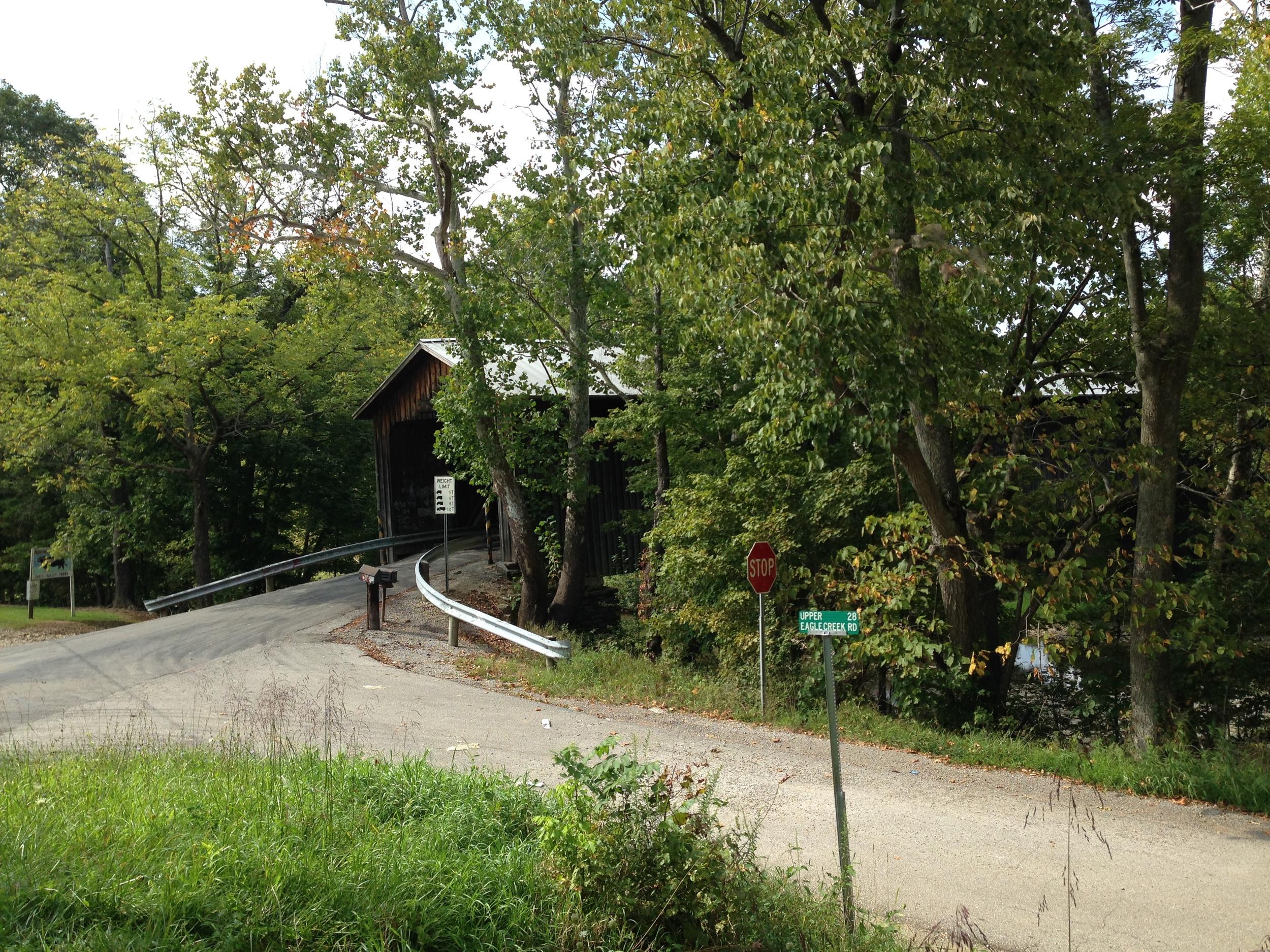 Entrance to North Pole Road Bridge