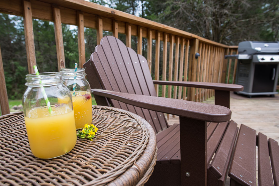 Relaxing on the deck