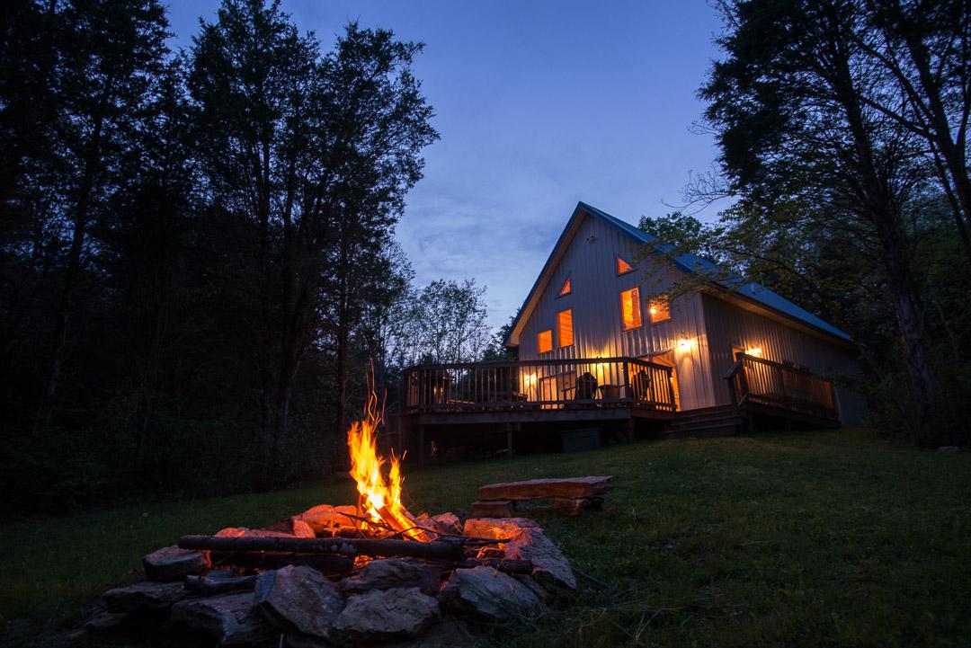 Enjoy the campfire as evening falls