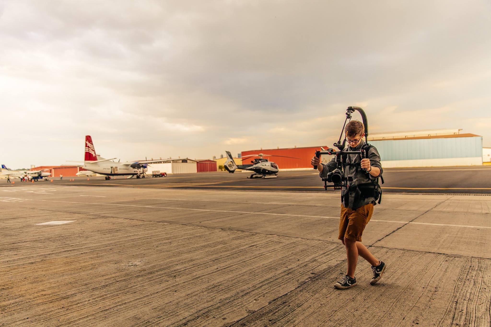 Ronin-M and Easyrig at the Heliport  Photo credit: Yasha Malekzad