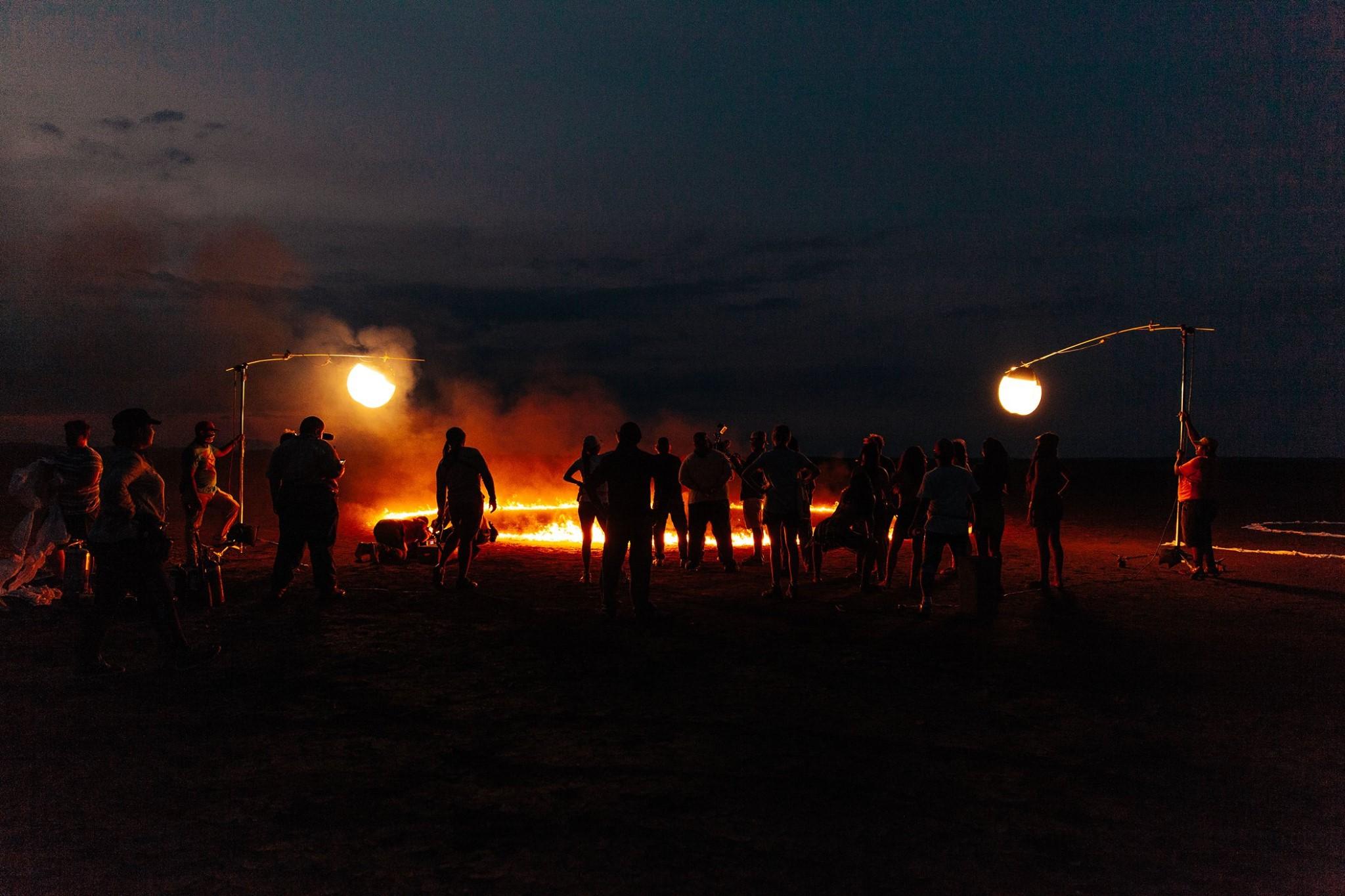 Final setup in the desert.  Photo credit: Yasha Malekzad